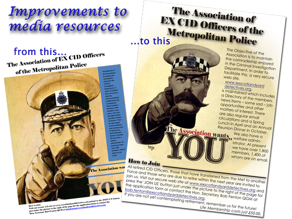 Lord Kitchener Poster for Ex CID Association