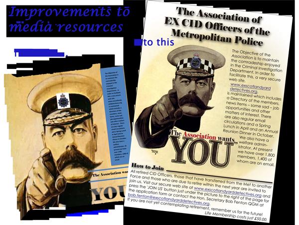 Lord Kitchener Poster for Ex CID Association