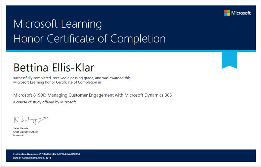 Microsoft 81900 Certificate _ Microsoft Learning